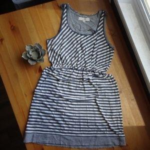 LOFT Striped Sleeveless Dress